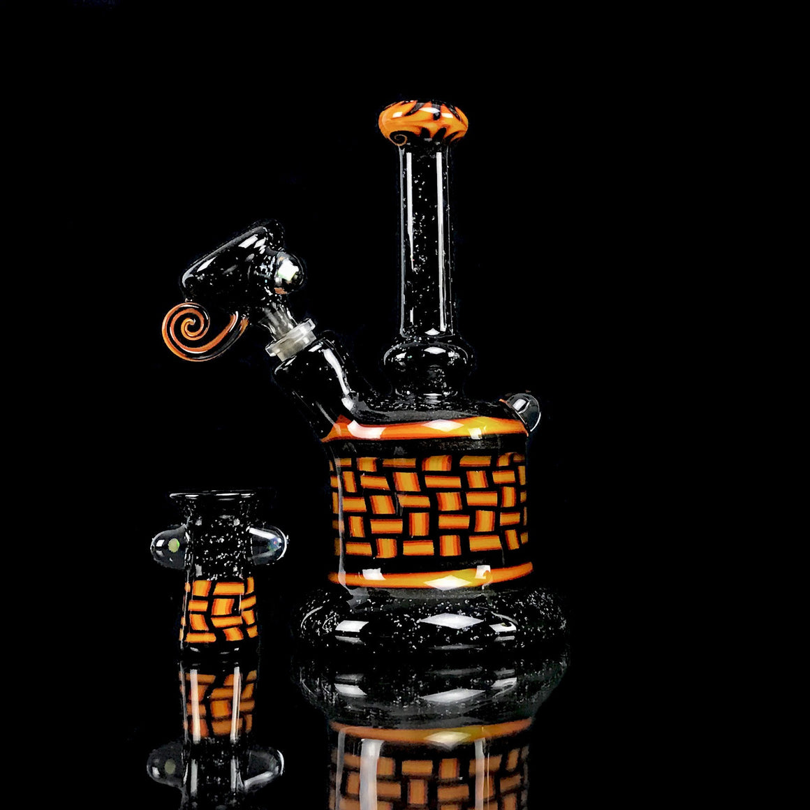 Crushed Opal/Fire Chipstack Fat Bottom Mini Tube