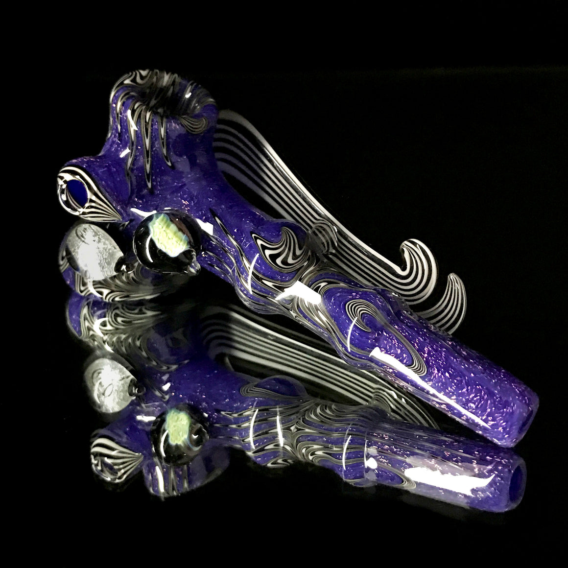 Purple Dichro Jailbird Hammer w/ Cane and Marble Attachments