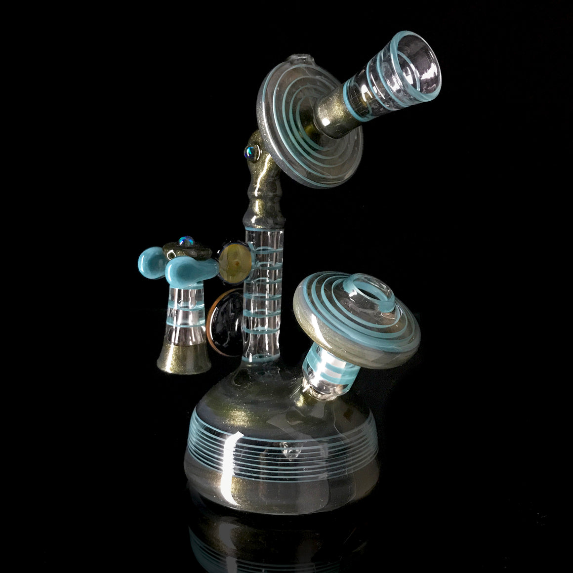 Collab Candlestick Phone Rig - Paparazzi/Agua Azul - 10mm Male