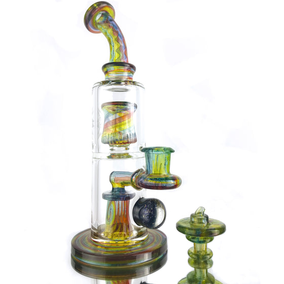 Fully-Worked Froth to Circ Rig - Transparent Rainbow - 14mm Female
