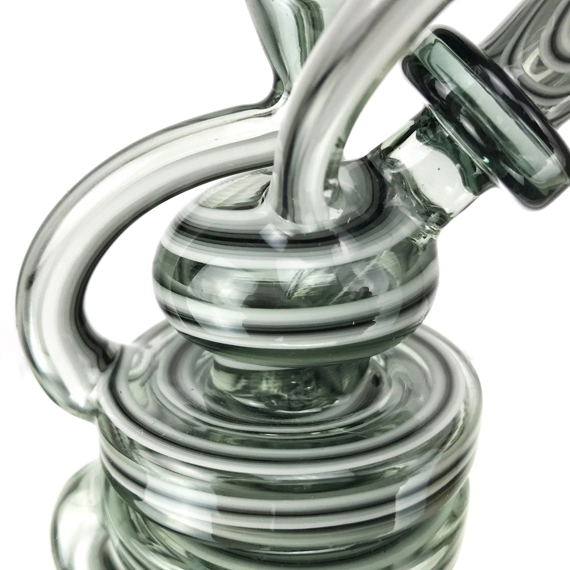 Double Uptake Floating Recycler - Portland Grey/White Linework - 10mm Female