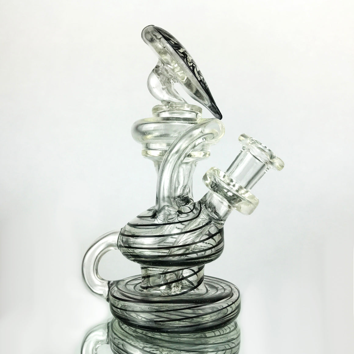UV Double Uptake Klein Recycler - BluV/Lucy Linework - 10mm Female