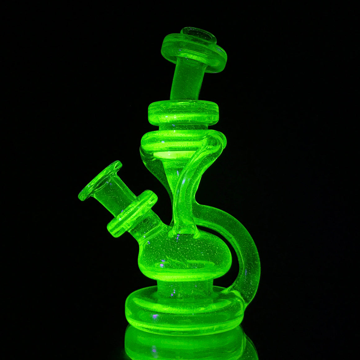 UV Double Uptake Floating Recycler - Illuminati - 10mm Female