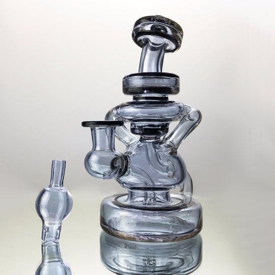 UV Double Uptake Klein Recycler - Lavender/BluV - 10mm Female