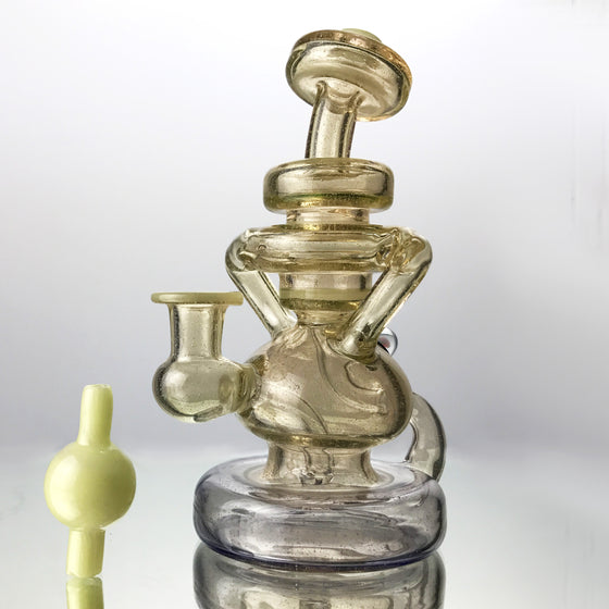 CFL Double Uptake Klein Recycler - Syzygy/Blue Stardust Fade - 10mm Female