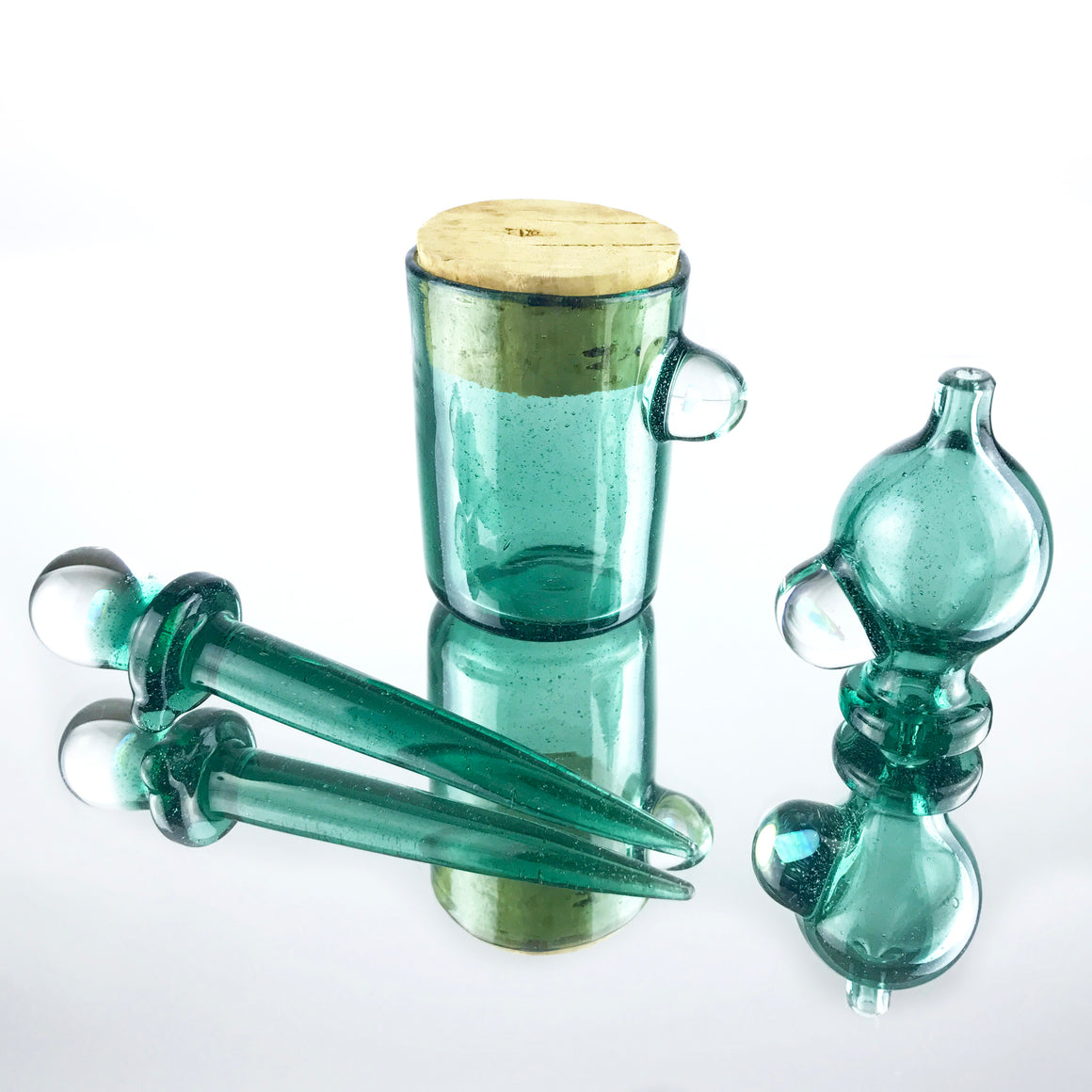 Fully-worked Klein Recycler Set - Custom Aqua Green - 10mm Female