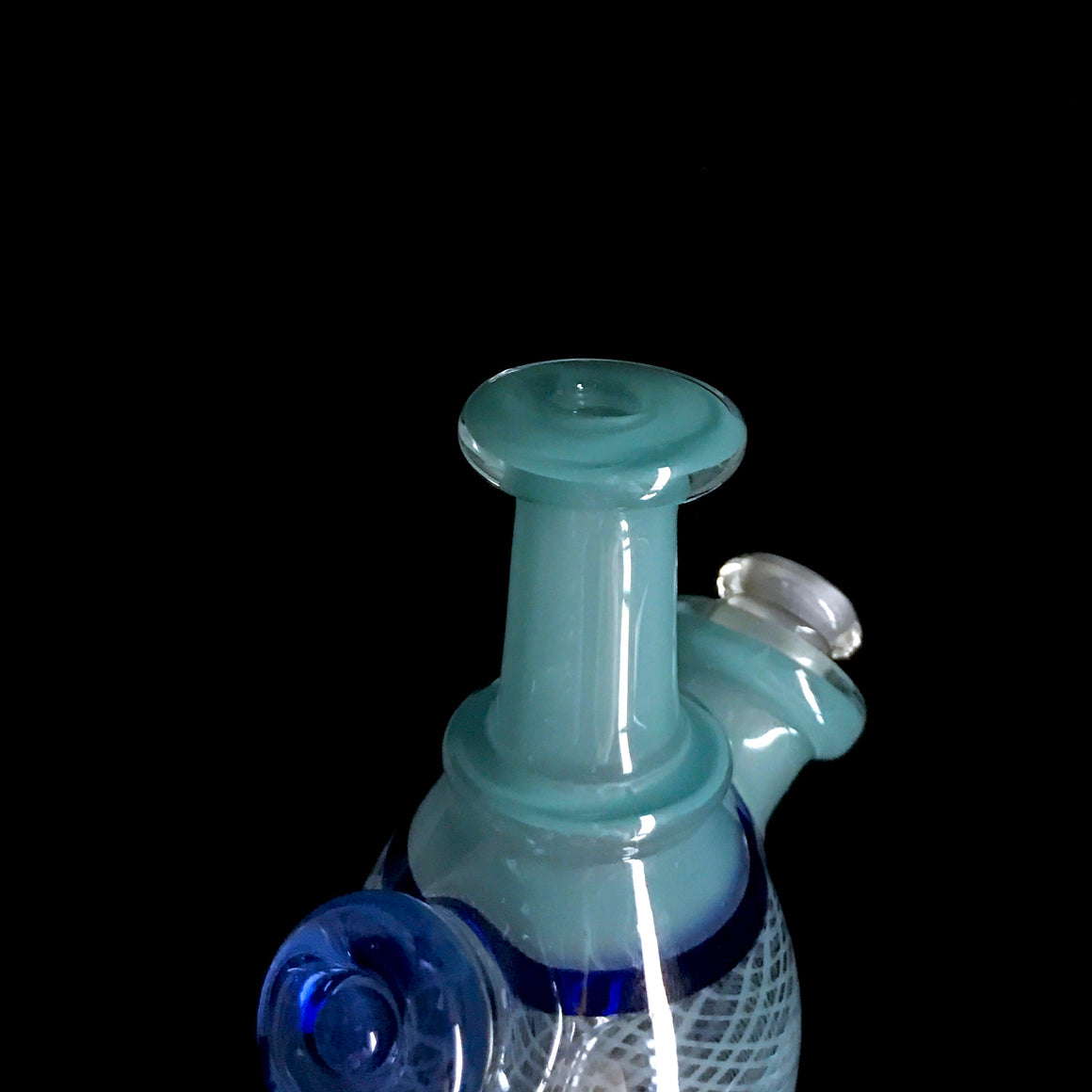 Fully-worked Mini Tube - Ice Blue Retti - 10mm Female