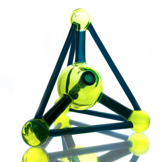 UV Tetrahedron Rig - Atomic Blue Stardust/Illuminati - 10mm Female