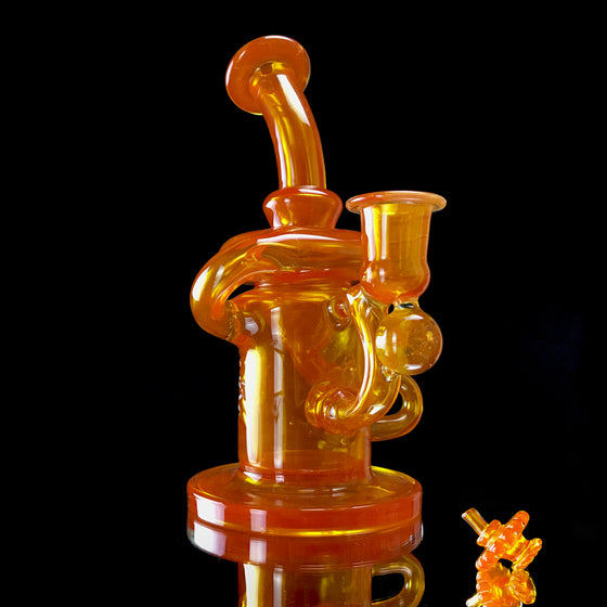 Full-colored Klein Recycler - Orange Crush - 14mm Female