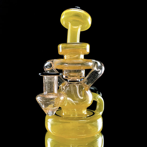 CFL Double Drain/Uptake Klein Recycler - Orange Sunshine/Syzygy - 10mm Female