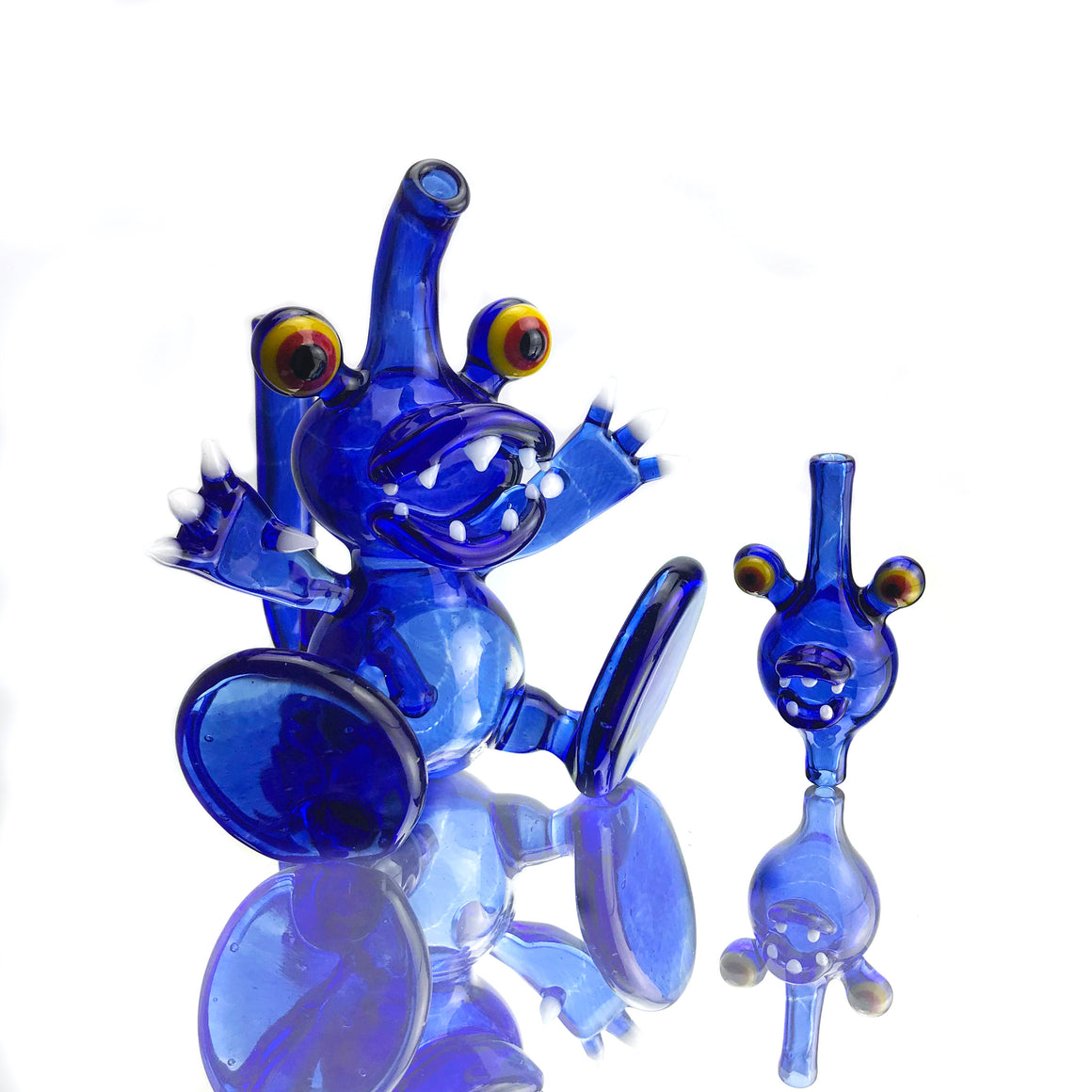 Dabgon Surprised - Blue Coilpot/UV Reactive - 10mm Female