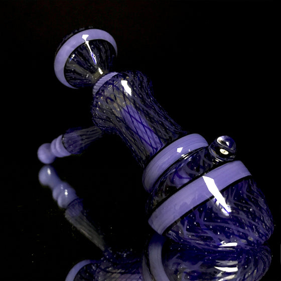 Airtrap Reticello Layback Bubbler with Removable Fixed-Push Bowl Downstem