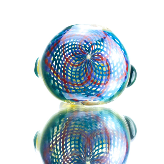 Red/Blue Retticello Spoon Pipe - Chaos