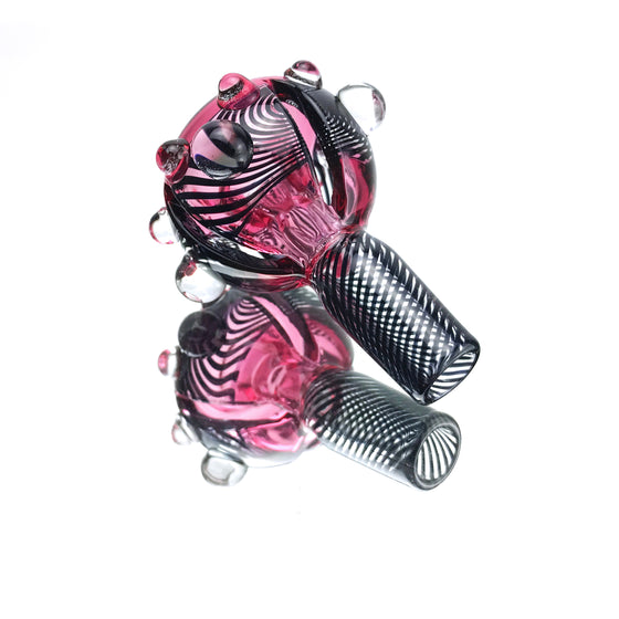 Deep-carved Linework Slide - Telemagenta - 14mm Male