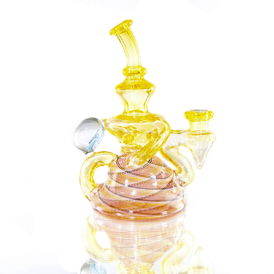 Fully-worked Klein Recycler - Citrus/Orange Reti - 14mm Female