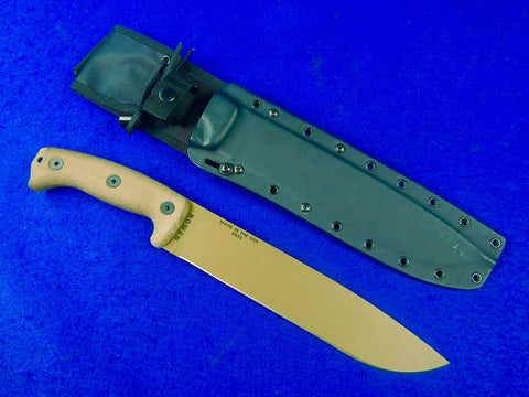 US Rowen Junglas Esee Knives Large Bowie Fighting Knife w/ Scabbard