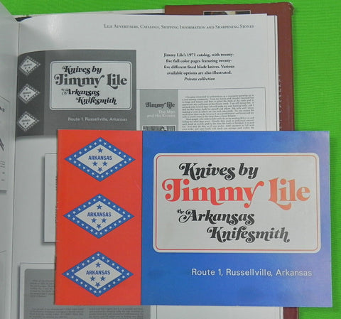 "1971 "" Knives by Jimmy Lile "" First Catalog Book"