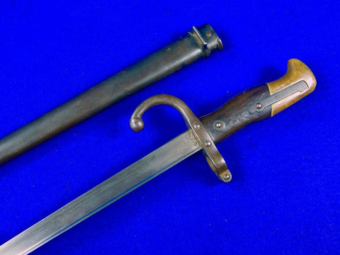 French France Antique 19 Century Pre WW1 Bayonet Sword Knife Knives w/ Scabbard