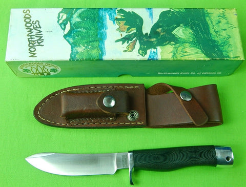 2002 NORTHWOODS KNIVES OKEMOS Custom Hunting Knife & Sheath Stone Box