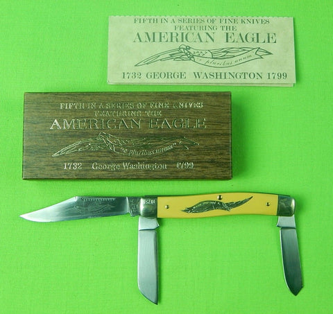 Vintage American Eagle Schrade Walden Cut E5 Limited 3 Blade Folding Knife