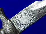 Antique French France 19 Century Engraved Hunting Dagger Knife