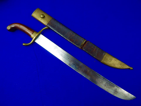 Antique 19 Century Spanish or Cuban Civil Guard Machete Sword Matching #