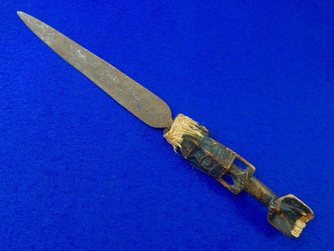 Antique Old Africa African Spear Point Dagger Fighting Knife