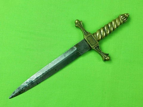 Antique British English Stiletto Fighting Knife Dagger