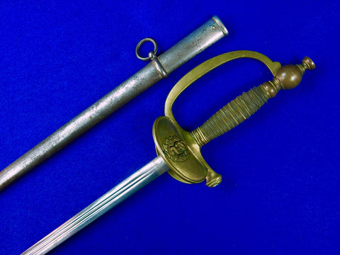 Antique France French WW1 Medical Officer's Sword w/ Scabbard