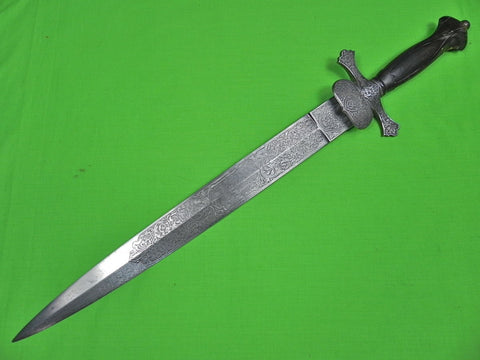 Antique French France 19 Century Spanish Spain Sword Large Dagger Knife