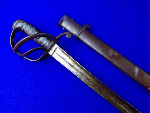 Antique Old Germany German 19 Century Cavalry Sword w/ Scabbard
