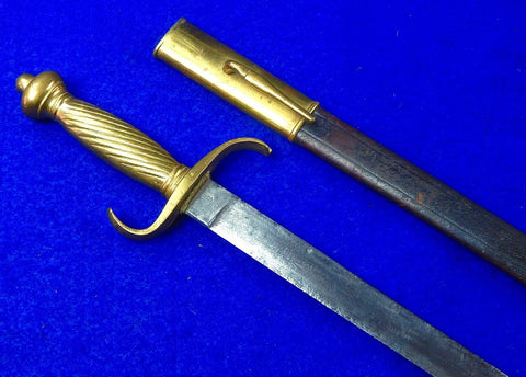 Antique Old Germany German 19 Century Short Sword with Scabbard
