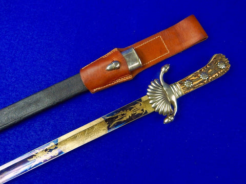 Antique Germany German 19 Century Presentation Engraved Hunting Dagger Sword
