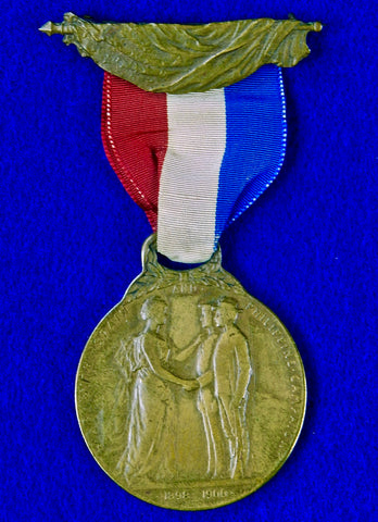 Antique US Michigan State War with Spain & Philippine Campaign Medal Order Badge