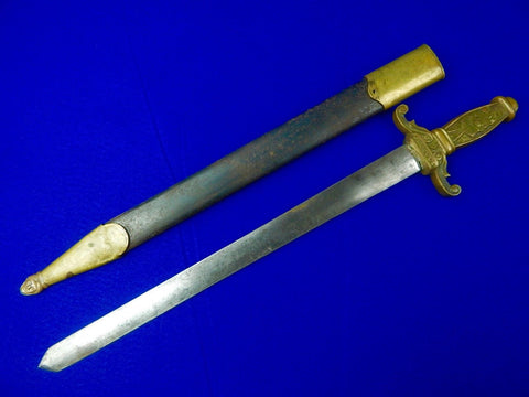 Antique US 19 Century Fraternal Masonic Sword with Scabbard