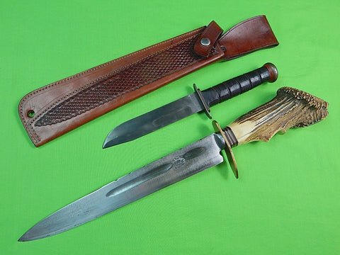 19 Century WW2 Presented Argentina Gaucho Blade Customized Huge Fighting Knife