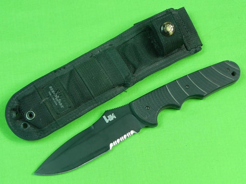 US Early BENCHMADE Heckler & Koch HK Tactical Fighting Knife w/ Sheath