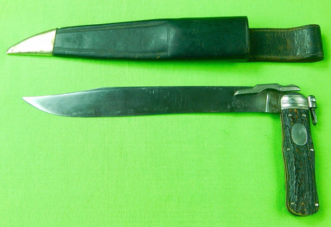 Antique 19 C Singleton Priestman Sheffield English British Large Folding Knife