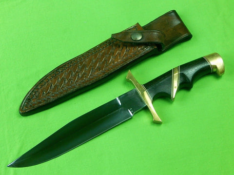 Custom Hand Made CHARLES CLIFTON Fighting Knife & Sheath