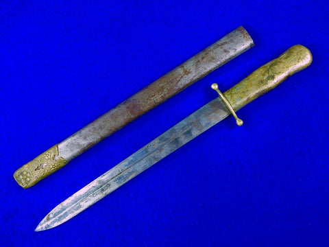 Chinese China WW2 WWII Nationalist Dagger Fighting Knife Knives w/ Scabbard