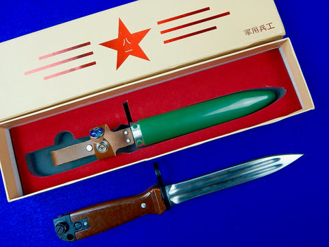 Chinese China Type 81 Bayonet Fighting Knife w/ Scabbard Box