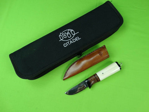 Custom Hand Made CITADEL Hunting Knife w/ Leather Sheath Case