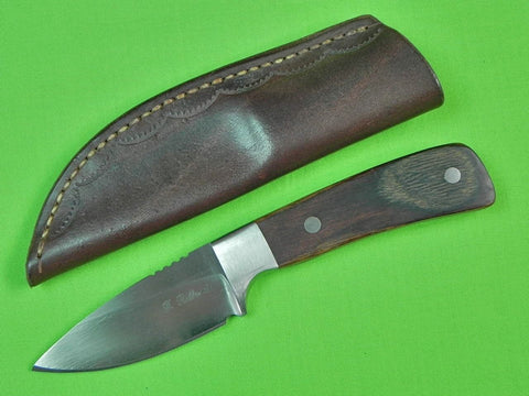 Custom Hand Made FRANK DILLUVIO Hunting Knife & Sheath