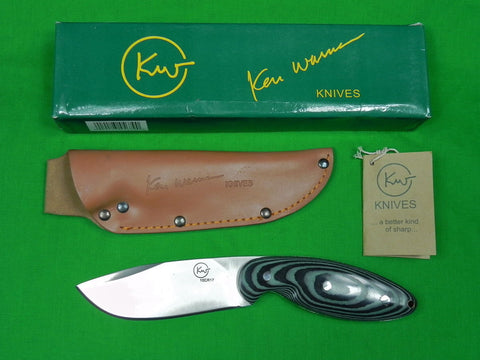 Custom Hand Made KEN WARNER Knife w/ Sheath Box