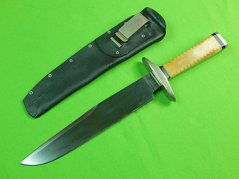 1986 Custom Hand Made DAN KUHL Fighting Knife & Scabbard