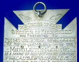 Vintage 1926 Silver Royal Antediluvian Order Buffaloes Merit Cross Badge Medal