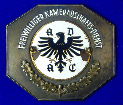 Vintage German Germany Auto Club ADAC Badge Plaque