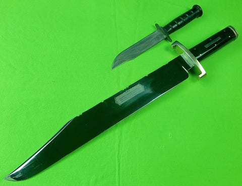 Vintage 1970's Joseph Rodgers & Sons Sheffield English British HUGE Bowie Knife