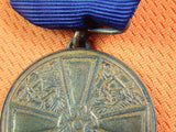Finnish Finland WW2 WWII Bronze Medal w/Box Order Badge