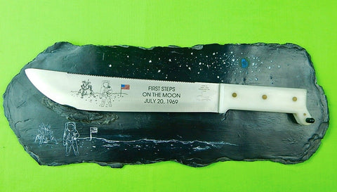 US Case XX First Steps on the Moon Commemorative Large Knife w/ Display & Box